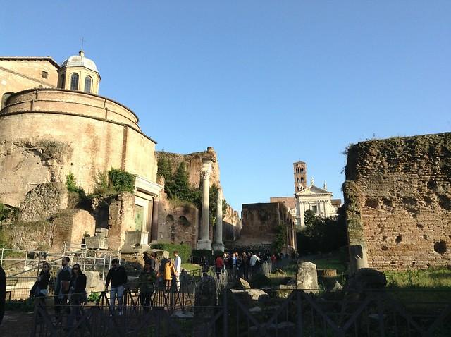 The Roman forum: looking towards la via sacra