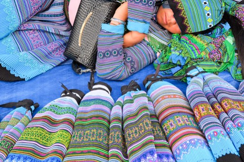Snoozing at the market. Bac Ha