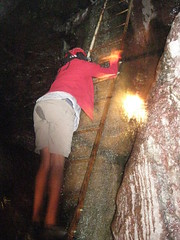 """Climbing the ladder to the natural """"jacuzzi"""""""