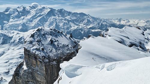 Mont Blanc et Pointe d'Anterne depuis la pointe de la Mitraille