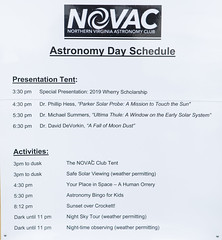 Astronomy Day Schedule