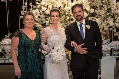 Nathália com os pais, Elena e Antônio Eugênio