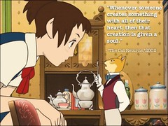 khi một thứ được tạo ra bằng cả trái tim, nó sẽ được trao cho linh hồn.