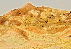 Colorful mountains near Tabriz, Iran