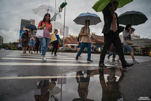 雨天,傘花朵朵開,我喜歡雨天,雖然拍照很麻煩。2019/5/28