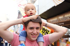 Father and Son in Festival