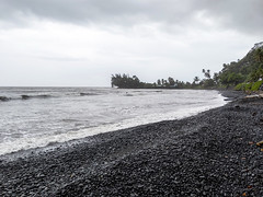 Tahiti, French Polynesia - Black Pebble Beach