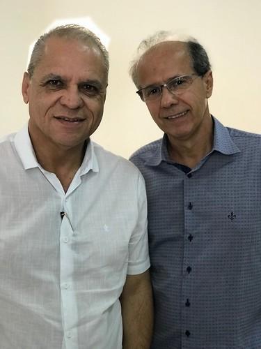 Carlos Souto e o proprietário do Hotel Metropolitano, Benedito Rocha