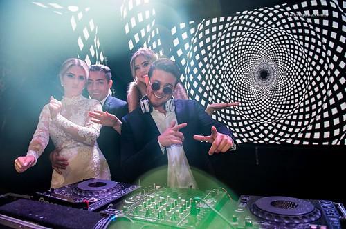 O DJ Ollie em ação, na mega estrutura da Equipashow