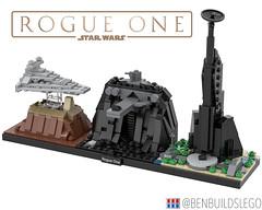 "Lego Star Wars - ""Rogue One"" Skyline MOC"