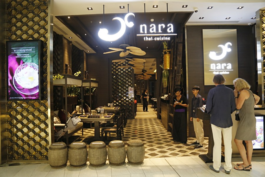 [曼谷美食]Nara Thai Cuisine  泰國最新商場ICONSIAM5樓用餐區~欣賞河岸風光夜景氣氛佳 @VIVIYU小世界