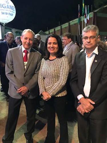 José Maria Facundes, a deputada Rosângela Reis e Celinho  e