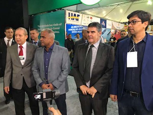 José Maria Facundes, presidente do Sindcomércio, Nardyello Rocha, o vice-governador Paulo Brant e Sânzio Figueiredo presidente da Usipa