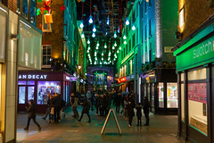 Christmas lights in Carnaby Street