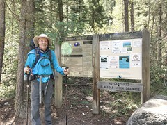 Mike at the start of the Needle Creek Trail