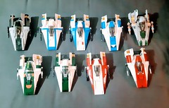 In the fight against the First Order the rebel cells work togeather to protect the outer rim. In a combined effort green blue rouge and shadow squadrons push back the advancing forces of the FO.