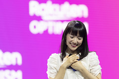 Marie Kondo, founder of KonMari Media, Inc. and tidying expert, speaks at Rakuten Optimism 2019 conference in San Francisco, California on October 23, 2019. (Photo by Yichuan Cao/Sipa USA)