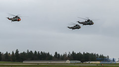 Incoming!  Three Sea Kings Over Victoria International