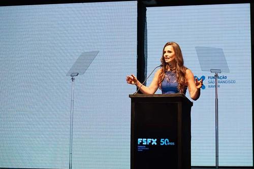 A jornalista e apresentadora Carla Vilhena foi a mestre de cerimônia da solenidade