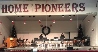 The stage is all set! We hope to see you tonight at 7:00 for our Upper School Christmas concert. Come on out to hear our choir, orchestra, and handbell choir perform.