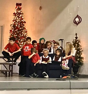 Our Lower School students are hard at work practicing for the Christmas program. We hope that you can join us at 6:30 tonight in our gym.