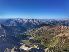 Looking towards the southwest from the summit of Snowmass Mountain
