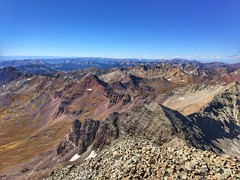 Looking towards the southwest from the Castle Peak summit