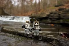 Along the falls