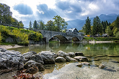 Bridge on Bohinj Lake