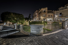 Syracuse Sicily. Source Aretusa in the night.