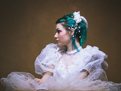 Wedding Green hair