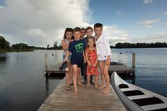 groepsfoto van kinderen op een feest