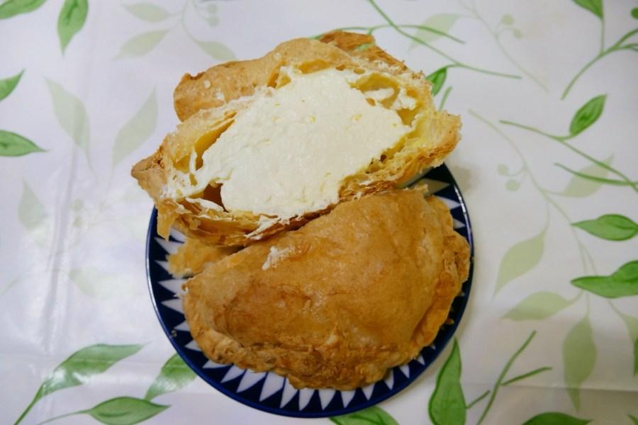 [新北美食]米琪淋乳凍蛋糕|萬里亞尼克附近~高CP值的銅板美食比手掌還大的超大泡芙 @VIVIYU小世界