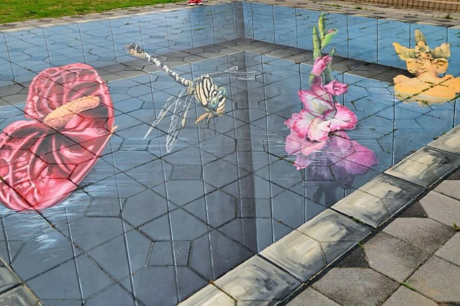 [台中旅遊]舊社里彩繪|后里區免費景點~3D互動彩繪大師曾進成作品.看看你能找到幾幅畫? @VIVIYU小世界