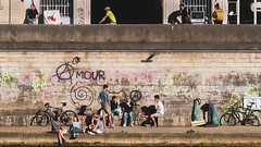 Lyon, Quai Tilsitt: déconfinnement...