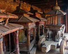 Ritual chariots in storage. Changu Narayan, Kathmandu, Nepal 2007