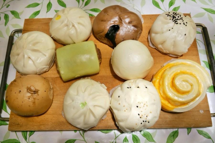 [桃園美食]香佳老麵包子饅頭 桃園夜市附近‧傳承30年老店‧老麵發酵手工製作團購美食 @VIVIYU小世界