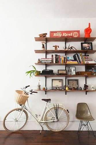 A bicicleta e a sala