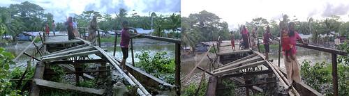 kalapara  pic - break of  iron bridge 28.06