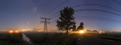 Nachtelijk panorama nabij Reduzum (Friesland)