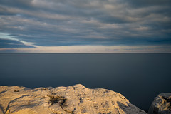 Fine Art - coast, water, sky, and clouds at sunset