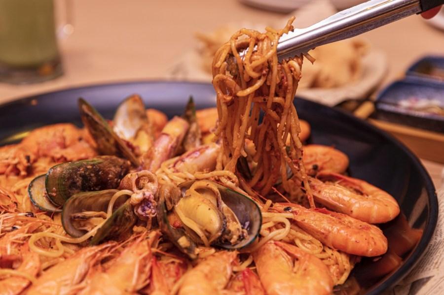 [中壢美食]紅唇蟹 KISS CRAB 美式手抓海鮮|威尼斯影城一樓~新菜單.日本A5和牛肋眼牛排頂級炙燒肉海陸大餐 @VIVIYU小世界