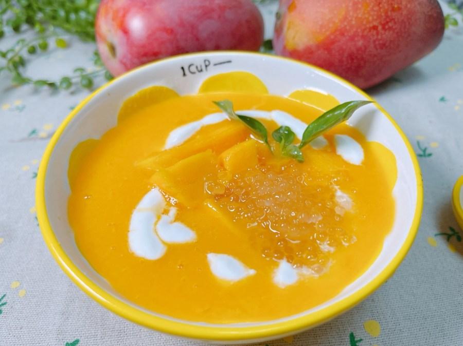 [烹飪]芒果椰漿西米露|台灣水果皆可應用的點心作法~南洋風格甜點自家也能完成 @VIVIYU小世界