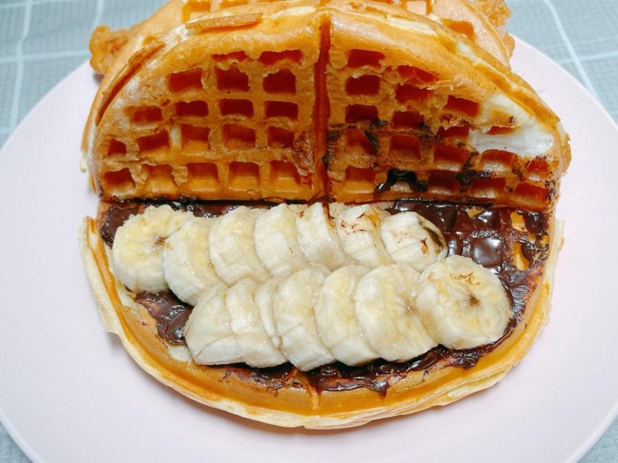 [桃園美食]袋鼠鬆餅 龜山工業區旁新開美式鬆餅店~鹹、甜口味鬆餅樣樣有 @VIVIYU小世界