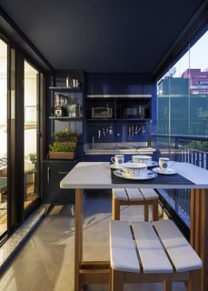 Horta na varanda gourmet