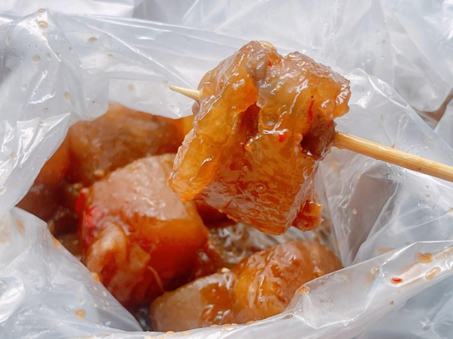 [台中美食]大甲鎮瀾宮附近小吃美食|清水阿吉米糕、大甲康家阿媽ㄟ粉腸、一路發綠豆沙 @VIVIYU小世界