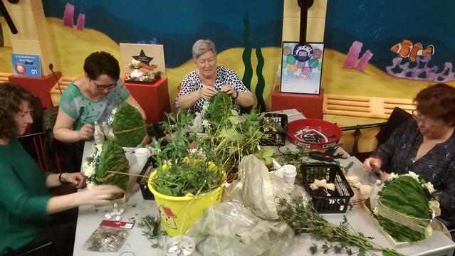 Paasworkshop bloemschikken 2019