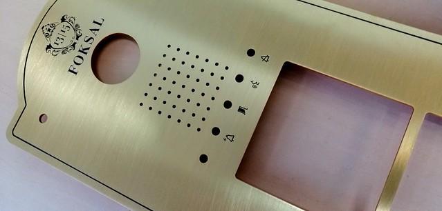 panel z mosiadzu, wycinany, grawerowany w Laser Studio