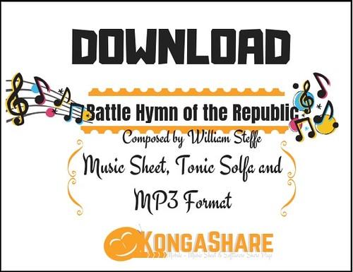 Battle Hymn of the Republic sheet music (Score, Video) by William Steffe - kongashare.com_m-min