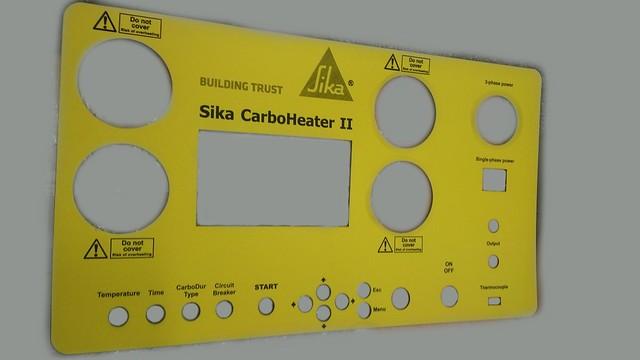 panel sterowniczy z laminatu grawerskiego